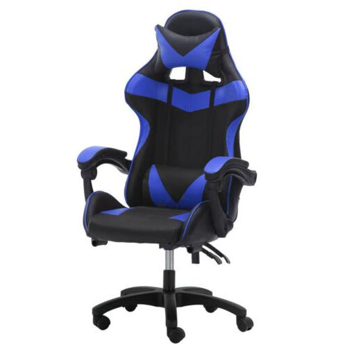Computer Gaming Chair Leather High-back Recliner