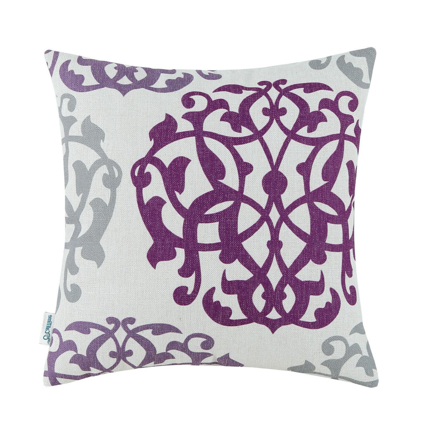 """CaliTime Pillow Cases Three-tone Floral 18""""X18"""" 20""""X20"""""""