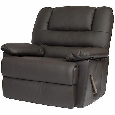 deluxe padded pu leather recliner