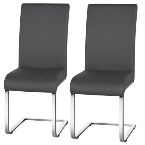 dining chairs modern pu leather dining room