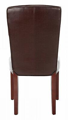 Safavieh Dining Parsons Bowery Brown Marbled Leather Dining
