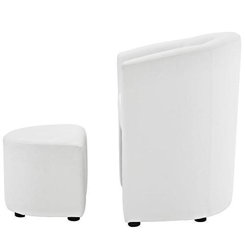 Modway Divulge Armchair Set White