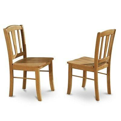 East West Dining Room Chair Wood Seat, 2 NEW