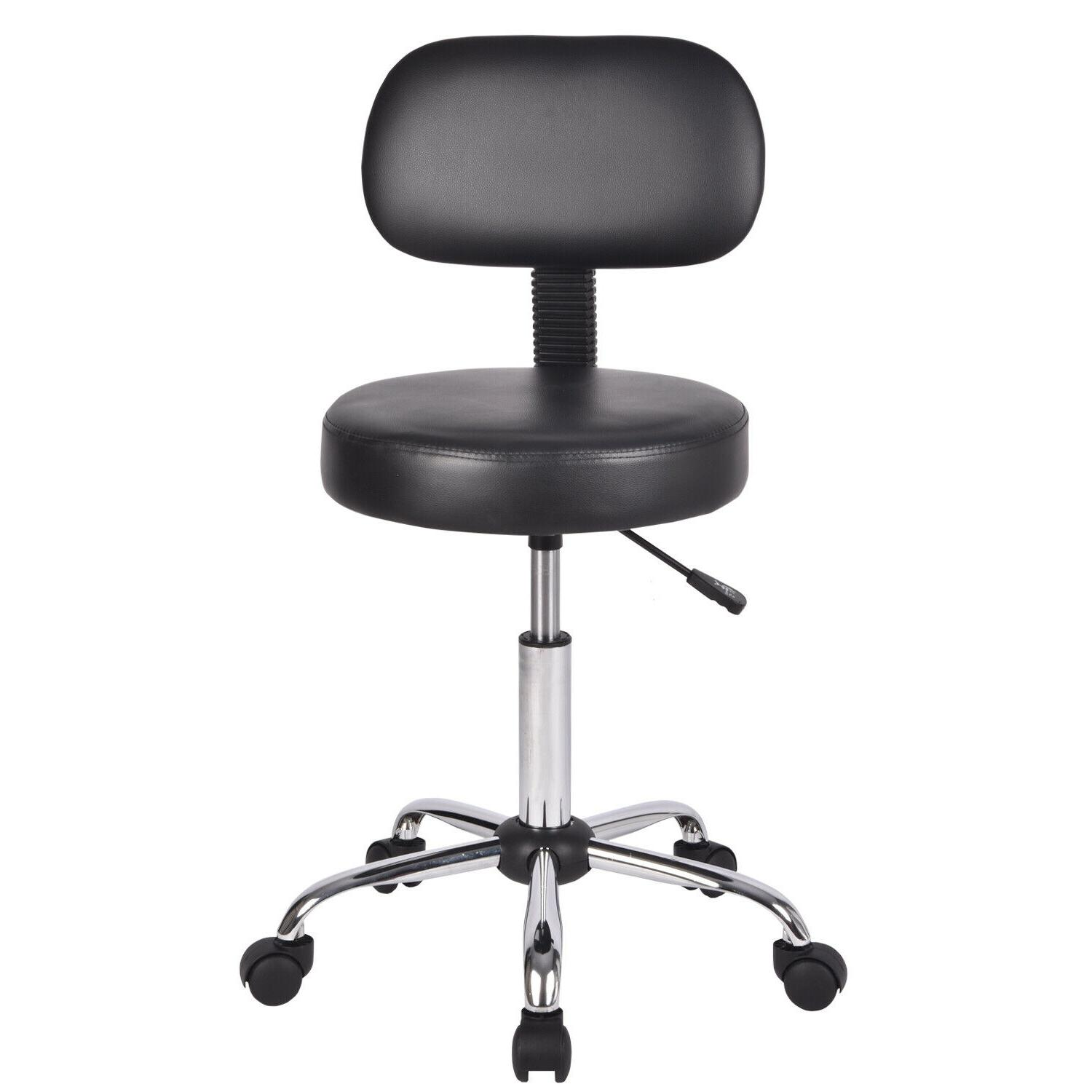 Rolling Chair Drafting Swivel Stool With Wheels&backrest Hei