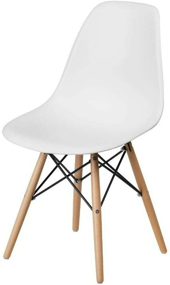 elon series white plastic chair with wooden