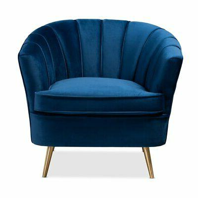 Baxton Studio Blue Velvet Accent