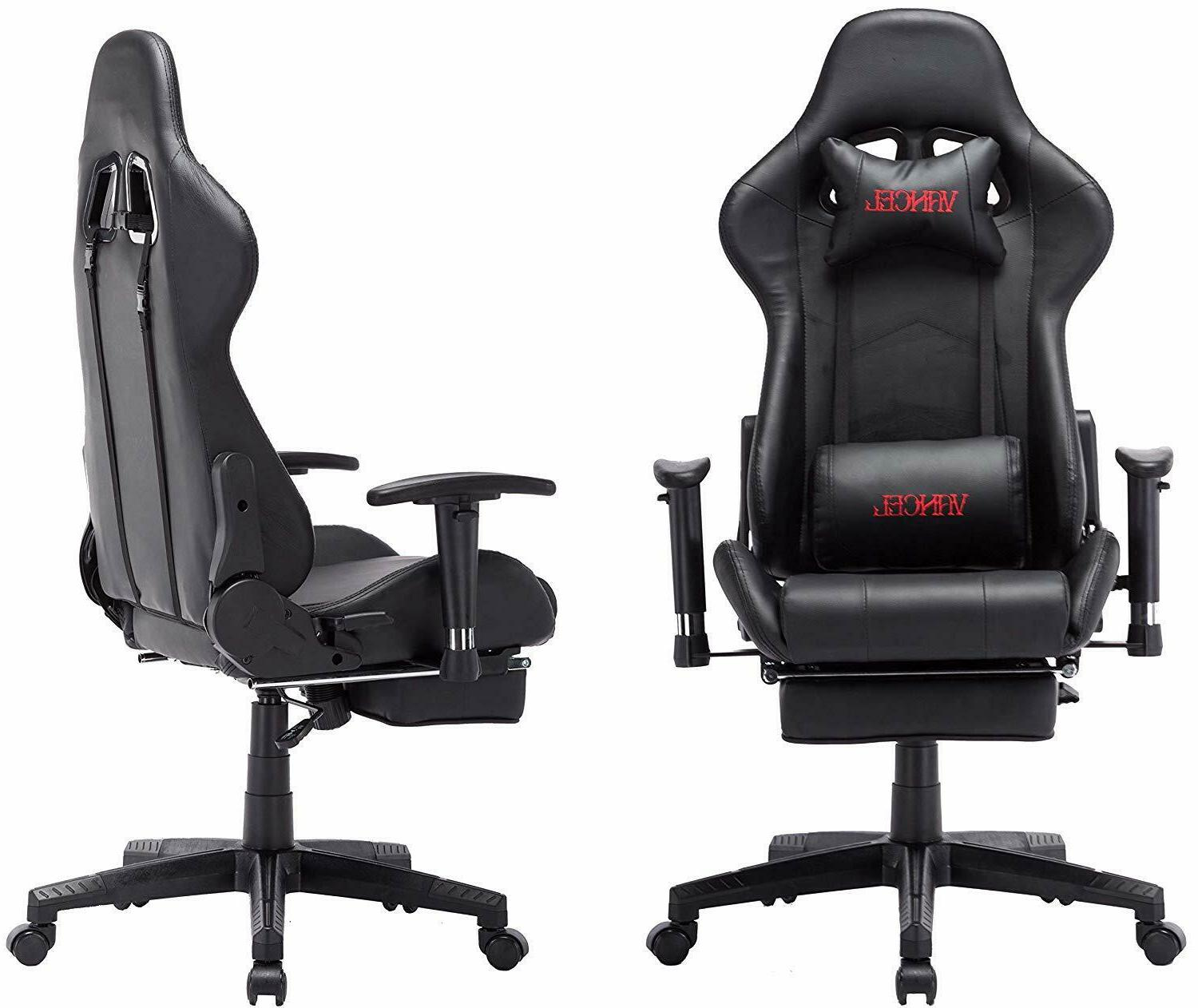Ergonomic Gaming with Footrest Support Chair