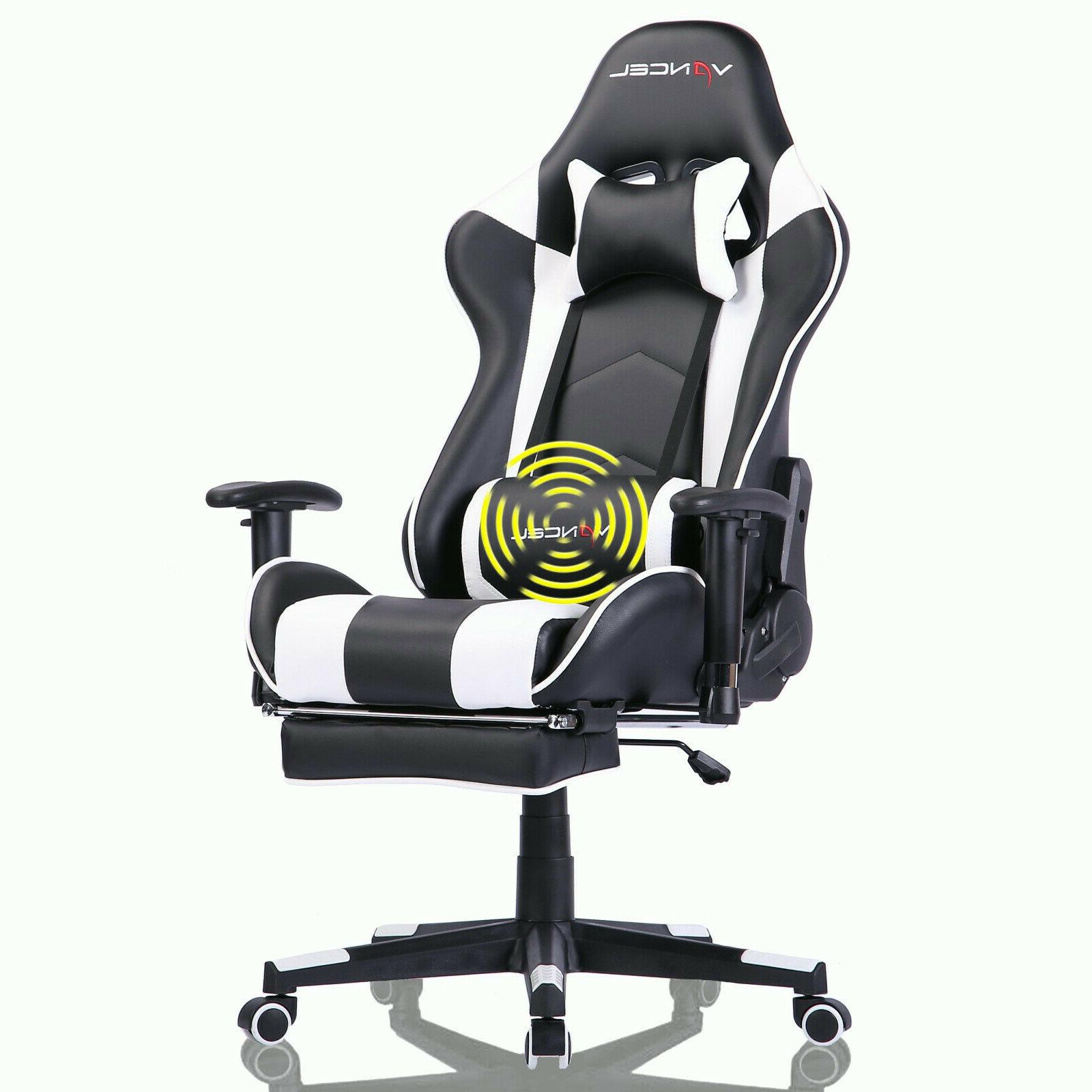 ergonomic computer gaming chair with footrest lumbar