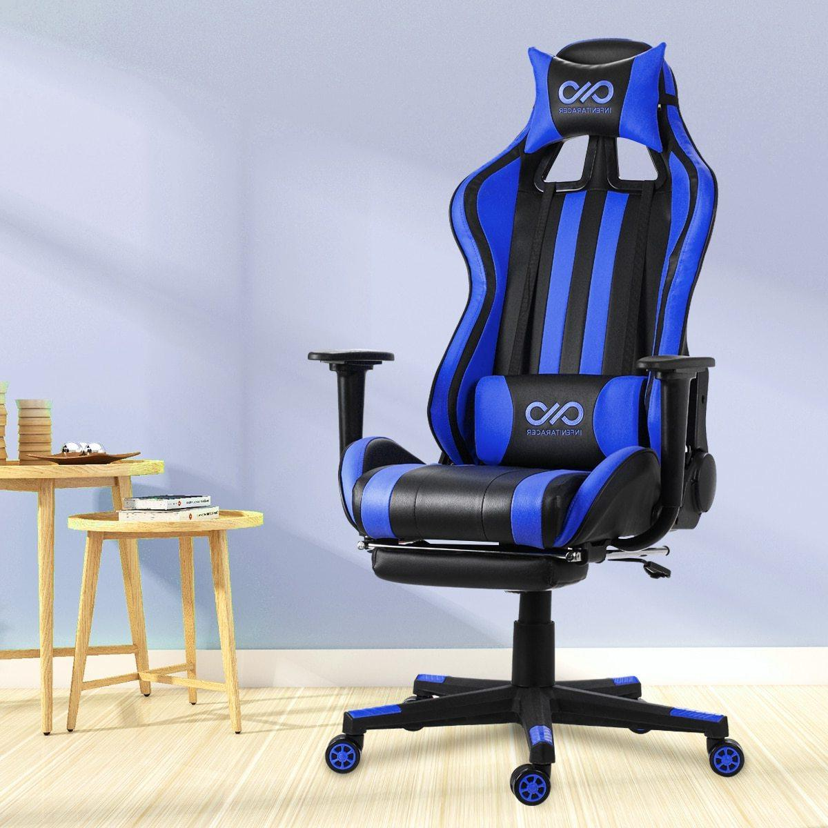 Lumbar High Back Leather Gaming Armrest and