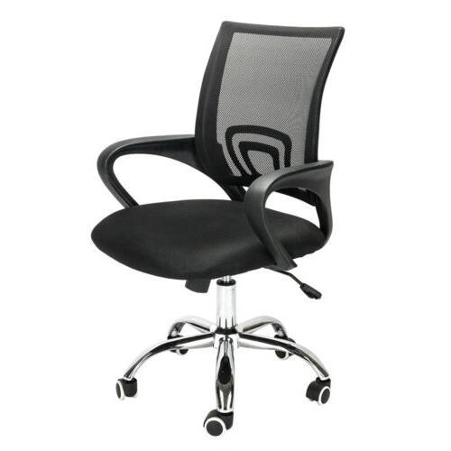 Ergonomic Mid-back Office Chair Desk Swivel Black