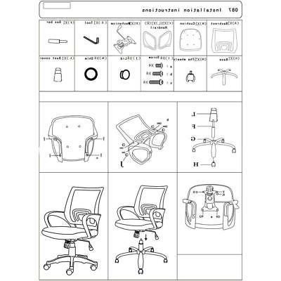 Ergonomic Mesh Chair Executive Computer Home Desk