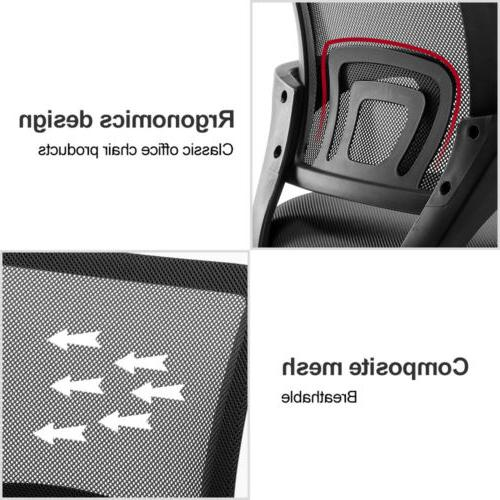 Ergonomic Mid-back Computer Office Chair Base Black