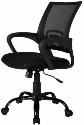 Ergonomic Mesh Swivel Mid-back Desk Chair Black