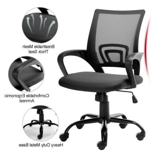 Ergonomic Mesh Mid-back Computer Chair Metal Base