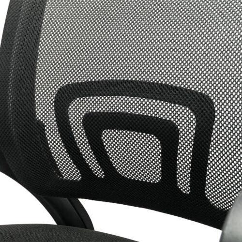Ergonomic Mid-back Office Task Swivel Chair Black