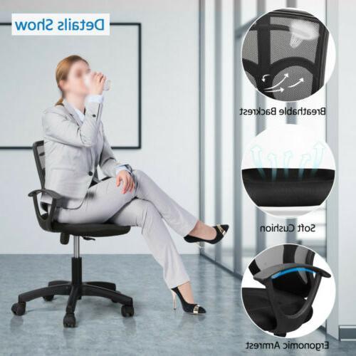 Black Executive Computer Midback Chair Hanger