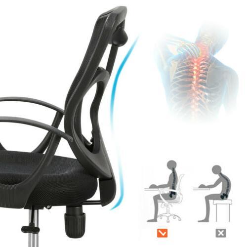 Ergonomic Midback Mesh Office Chair Desk Task Black