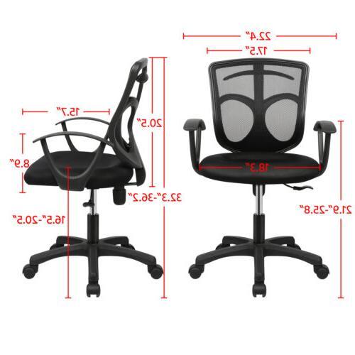 Ergonomic Chair Swivel Desk Black