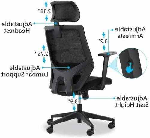 Tribesigns Ergonomic High Headrest,
