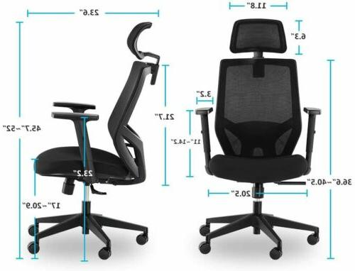 Tribesigns High Back Desk Chairwith Headrest, Backrest