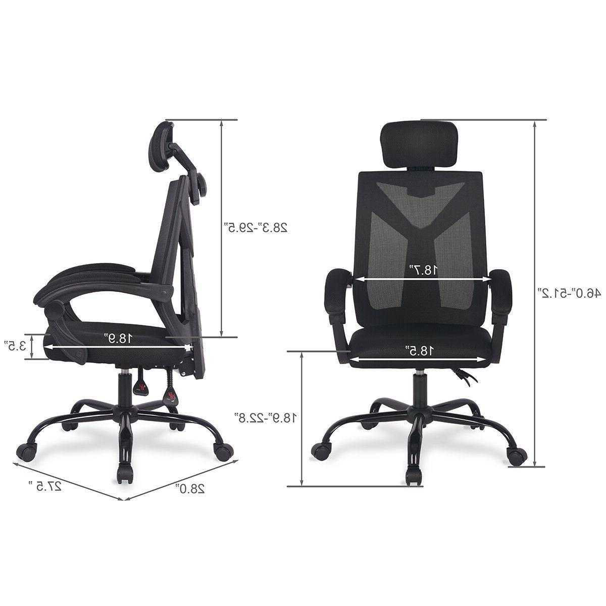 Home Ergonomic Back Mesh Chair Swivel Computer Desk Chair