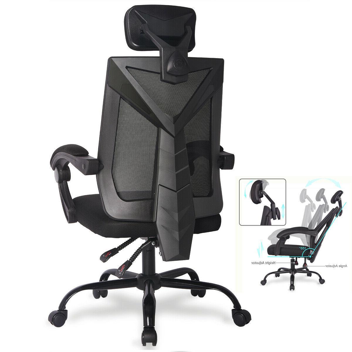 ergonomic office mesh chair high back desk