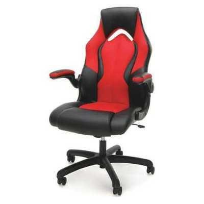 OFM INC ESS-3086-RED Gaming Chair,Leather,Red