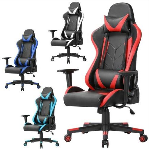executive swivel leather gaming chair racing office