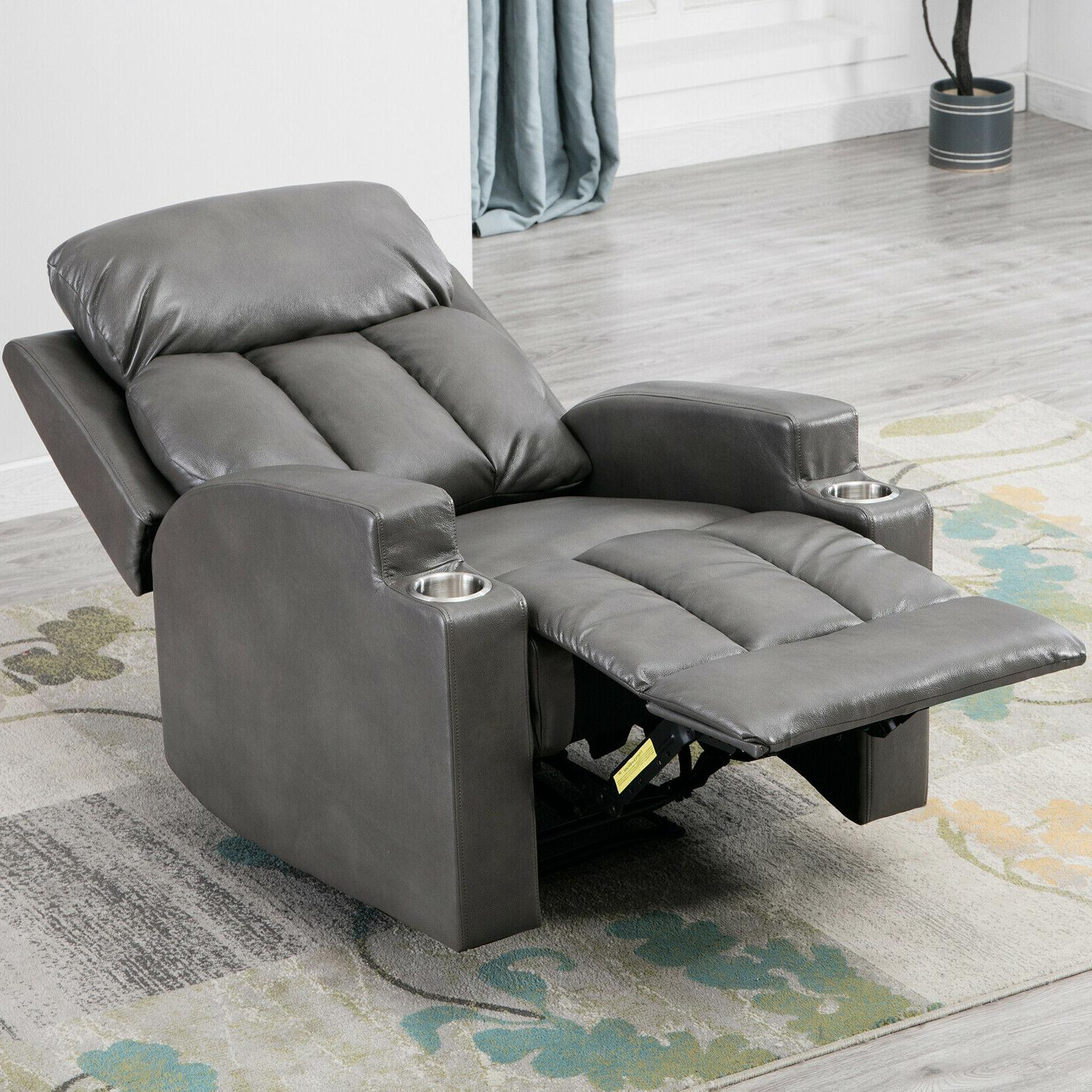 Leather Backrest Sofa Cup Seating