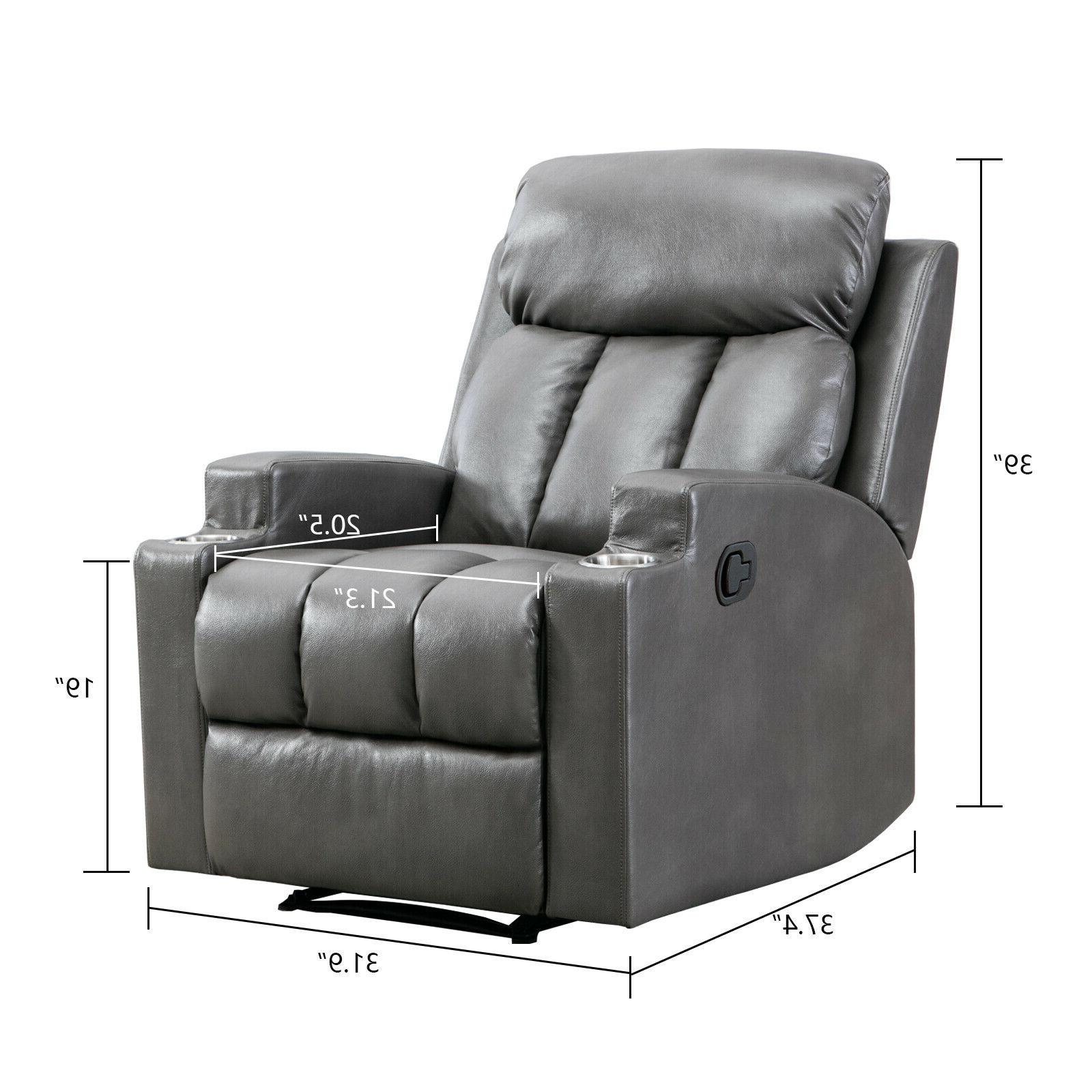 Leather Backrest Sofa Cup Home Seating