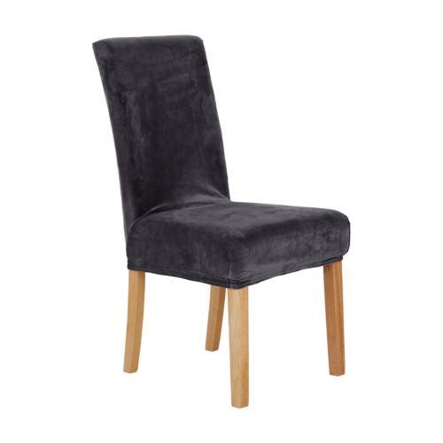 Deconovo Fashion Washable Kitchen Chair Covers Velvet Dining