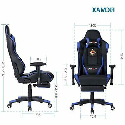 Ficmax Game Chairs For Home Office With Footrest PU