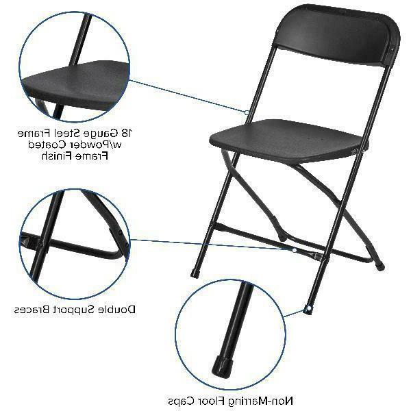 Flash Series Premium Plastic Chair, Black