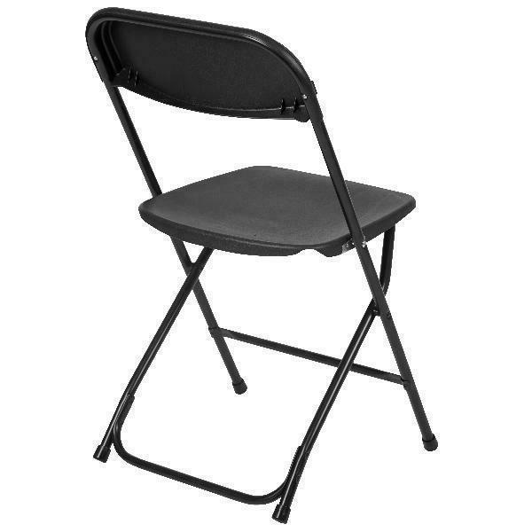 Flash Premium Folding Chair, Black
