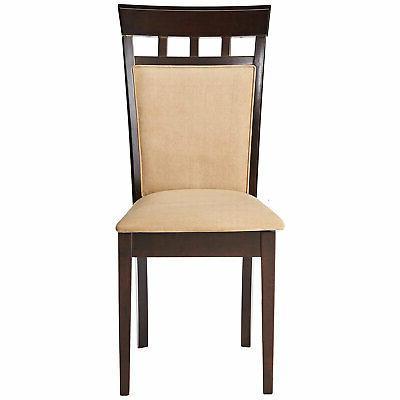 Set of 2 Contemporary Mocha Color Seat & Back, Cappuccino Fi
