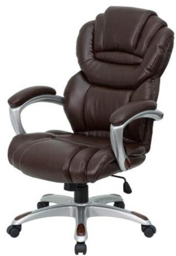 High Back Leather Office Chair, Furniture Accessories Manage