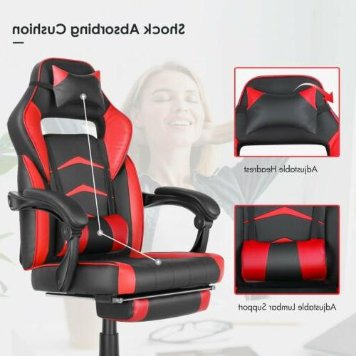 gaming chair ergonomic office height adjustable footrest