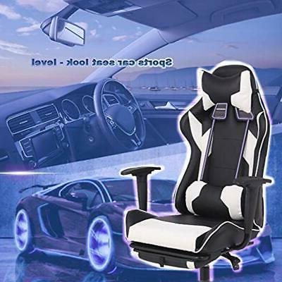 Gaming High Chair, With Footrest, Lumbar