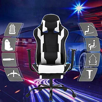 Gaming Chair Swivel High Back Racing Chair, With Lumbar And