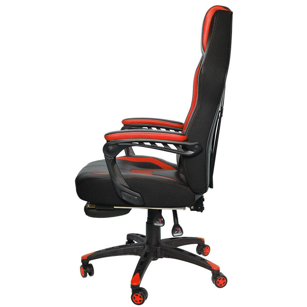 Gaming Computer Office Back Footrest Ergonomic Red
