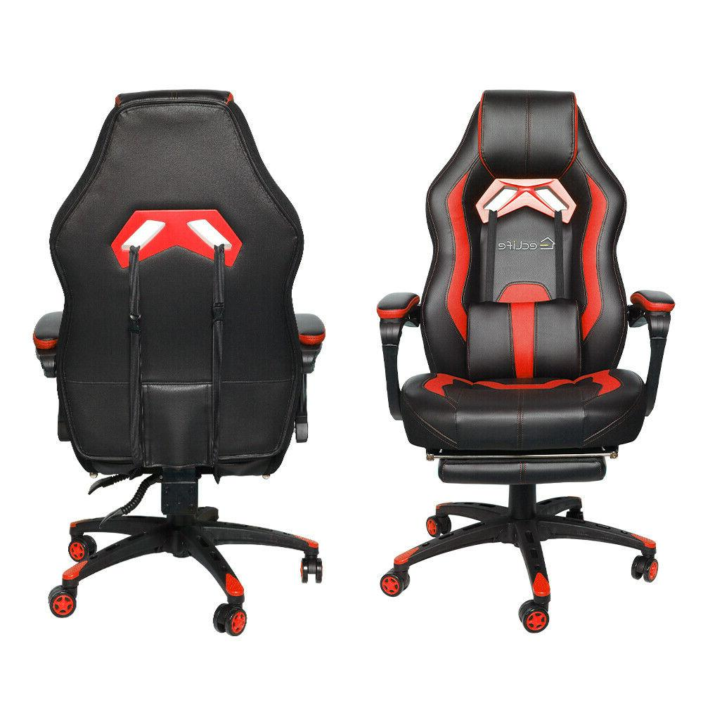 Gaming Chair Office Back Footrest