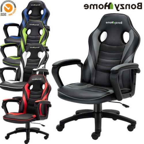 Gaming Chair Racing PU Leather Office Swivel Executive Compu
