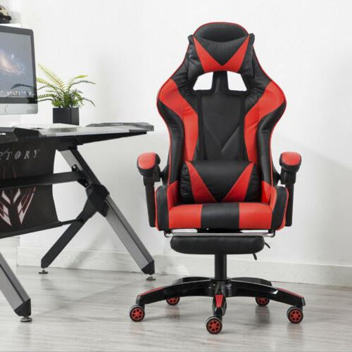 Racing Video Gaming Chair Recliner Leather