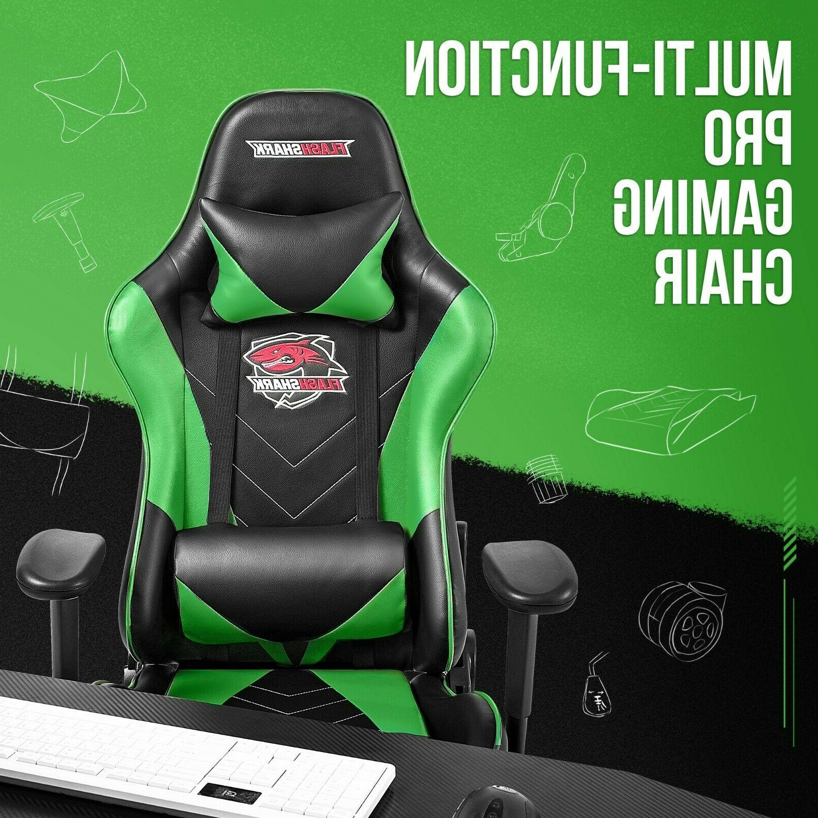 gaming chair with footrest office racing style