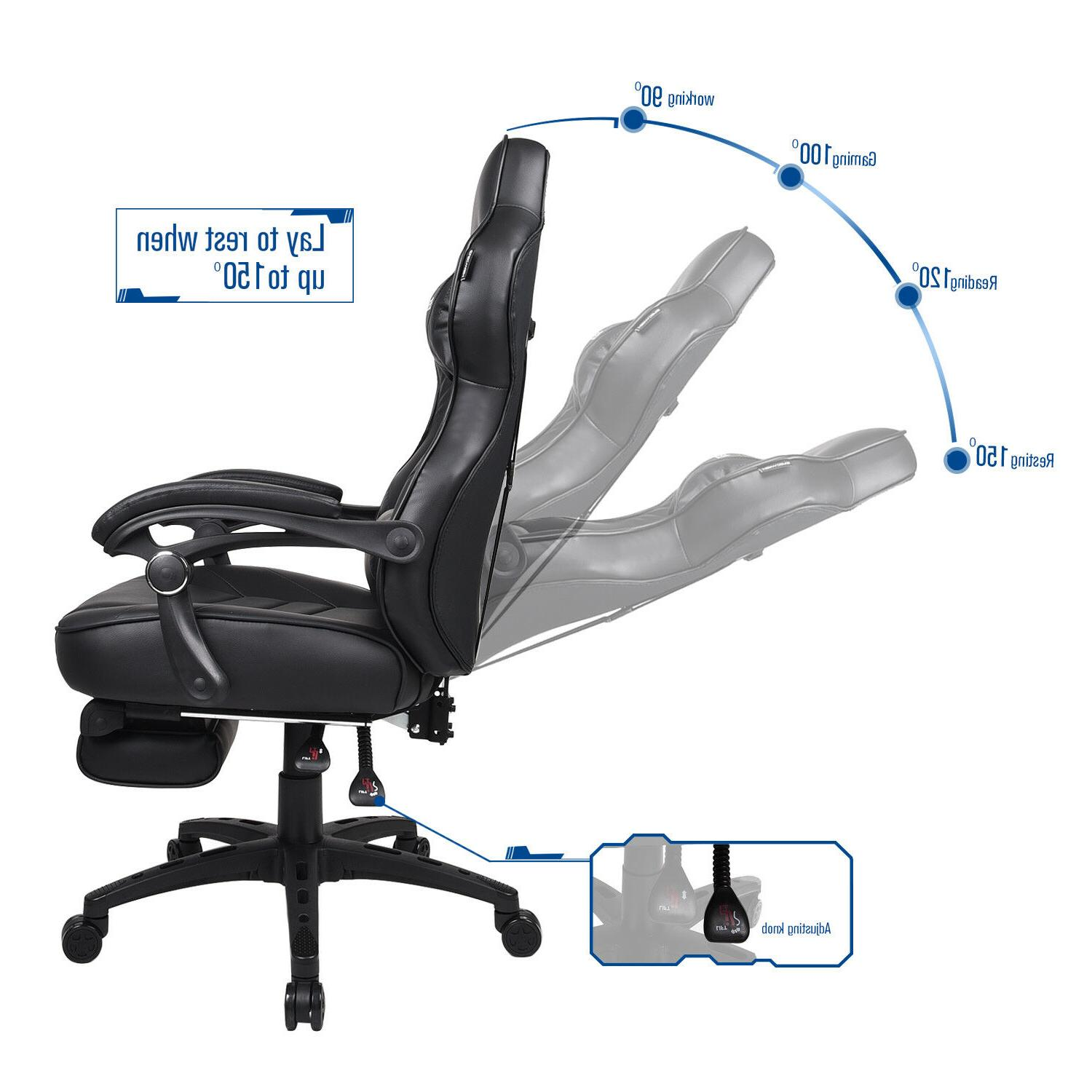 Racing Gaming Chair Leather Swivel Desk