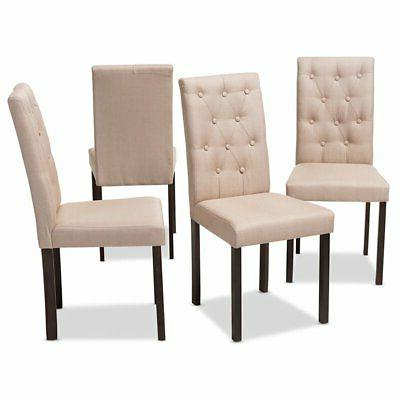 Baxton Studio Tufted Dining Chair Beige