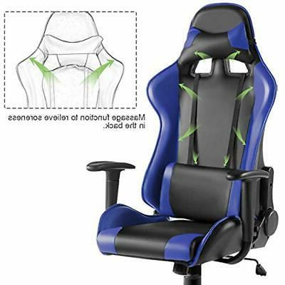 Giantex Racing Gaming Chair High Back Ergonomic Reclining PU