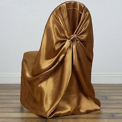 gold 10 universal satin pillowcase wedding chair