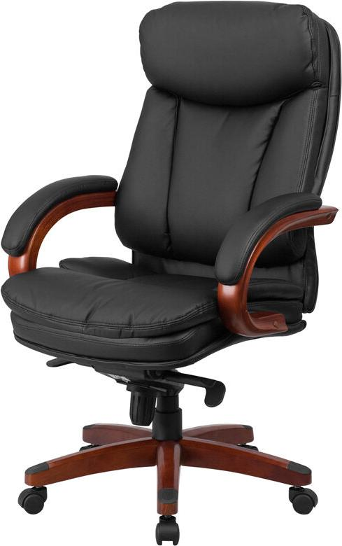 High Executive Chair with Mahogany and Arms