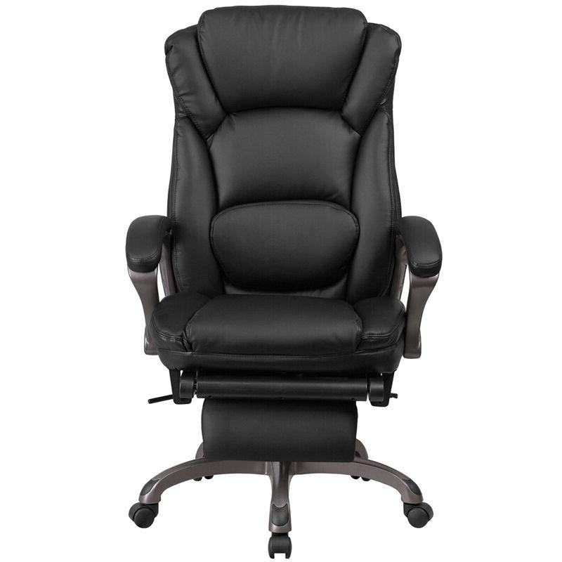High Back Black Executive Reclining Swivel Office Chair Padded Arm